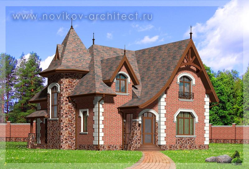 проект дизайна фасадов частного загородного дома архитектор москва подмосковье россия