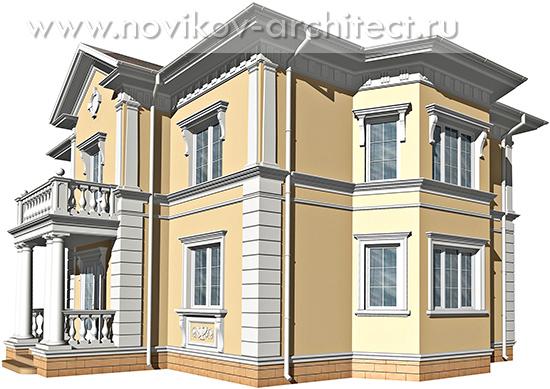 Дизайн фасада в классическом стиле.