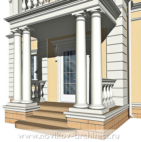Фрагмент главного фасада (входная группа)