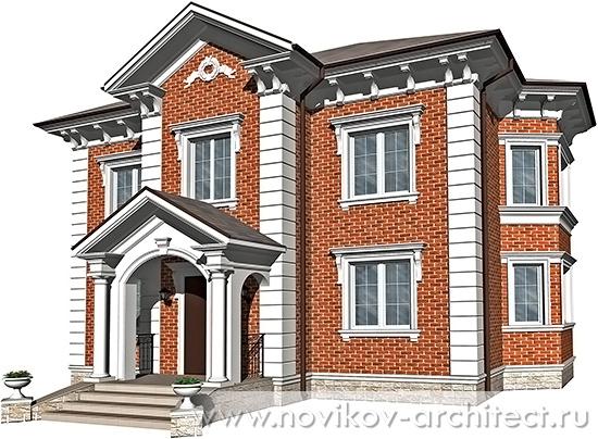 Дизайн фасада дома проект в классическом английском стиле архитектор москва подмосковье заказать