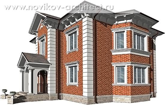 Дизайн фасада в английском стиле.