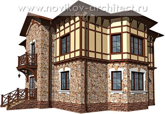 Дизайн фасада в средневековом стиле. Фахверк.