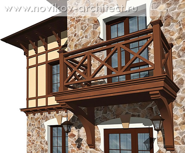 Фрагмент главного фасада (балкон)