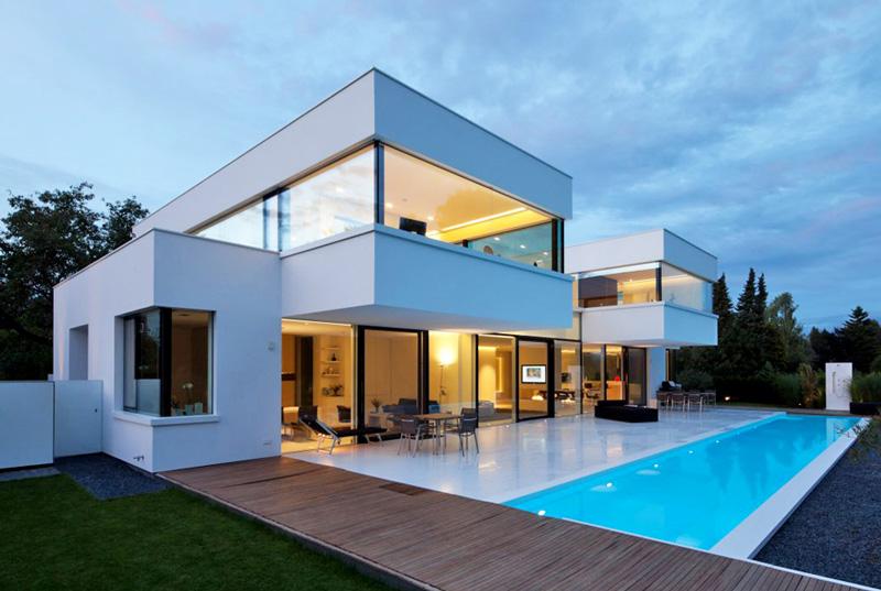 Дизайн загородного дома в стиле хай тек