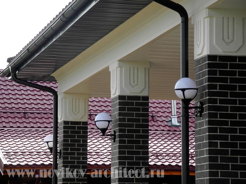 Пример проекта дизайна фасадов дома - реализованный проект фото