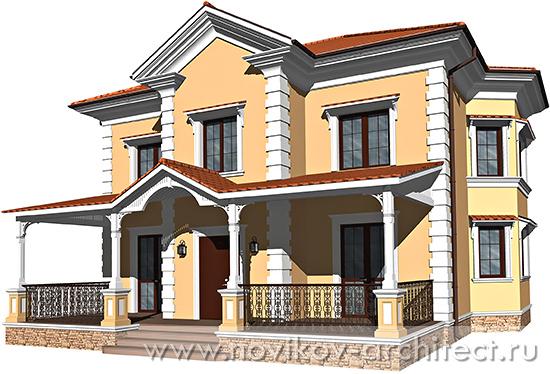 Дизайн фасада в португальском стиле